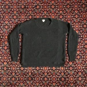 Charcoal Grey Ribbed Knit sweater